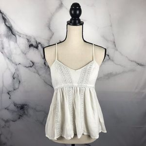 AMERICAN EAGLE baby doll lace camisole tank top